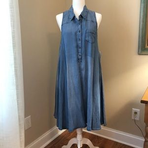 New w/Tags Chelsea and Theodore Denim Swing Dress